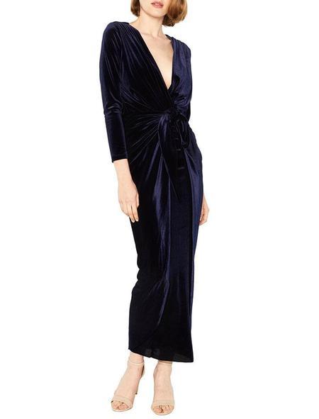 Misa Los Angeles Sienna Velvet Dress - Navy