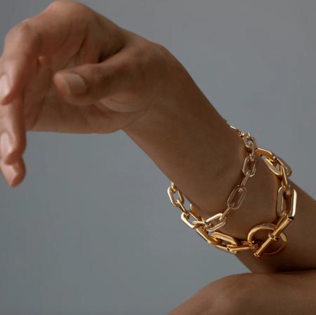 Jenny Bird Toni Bracelet - 14K gold-dipped brass