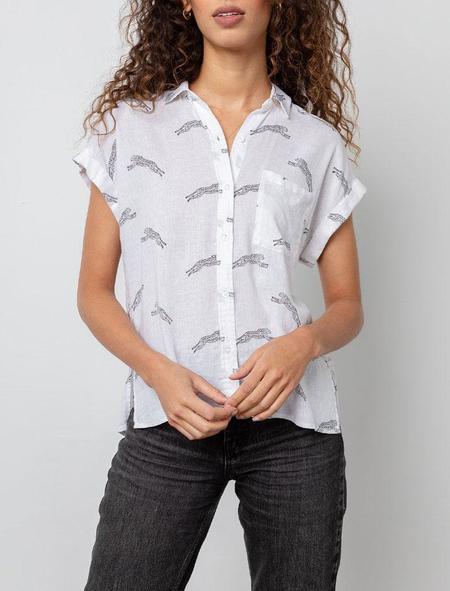 Rails Whitney Shirt - black cheetah