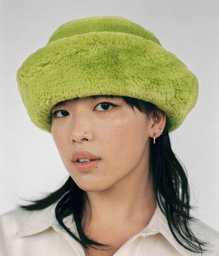 Clyde Faux Fur Bucket Hat - Moss