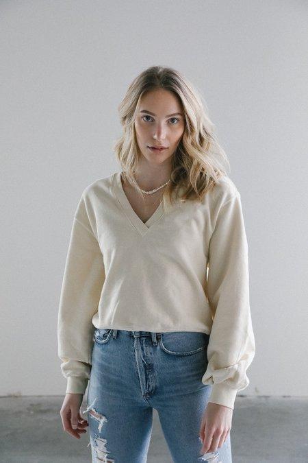 Agolde V-neck Balloon Sweatshirt - Penne