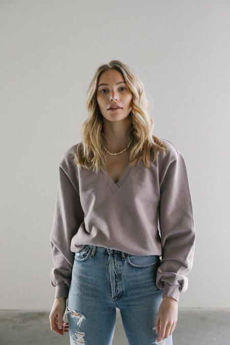Agolde V-neck Balloon Sweatshirt - Taro