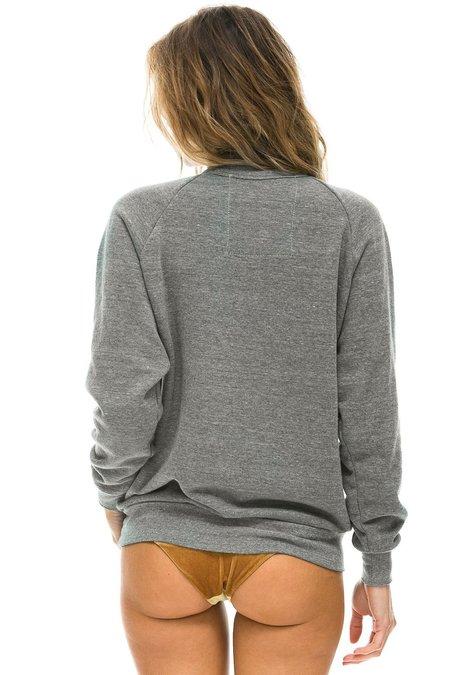 UNISE Aviator Nation Bolt Crew Sweatshirt - heather gray