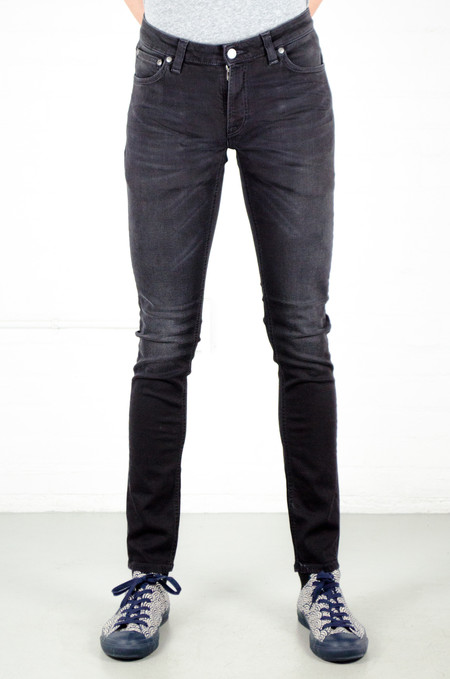 Men's Nudie Skinny Lin Black Waves