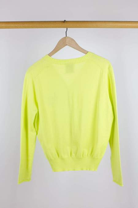 Allude V-Cardigan - Lime