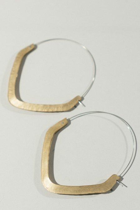 Rattle Battle Pentahoop Earrings - Brass