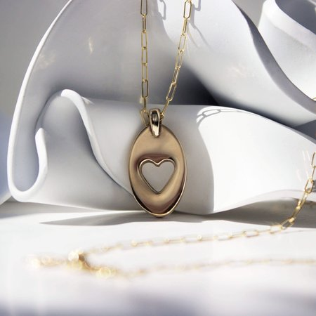 L.Greenwalt Jewelry Heart Pendant Necklaces - Gold