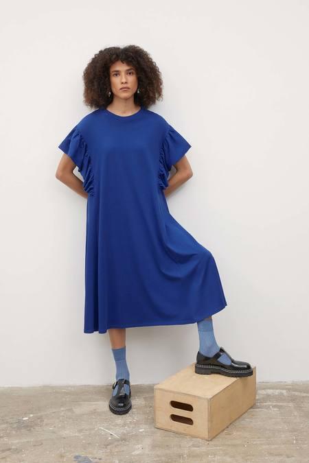 Kowtow Frill Dress - bright-blue