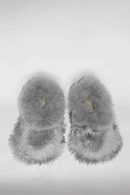 WOLF & GYPSY VINTAGE Rinse Alpaca Slippers - Blue