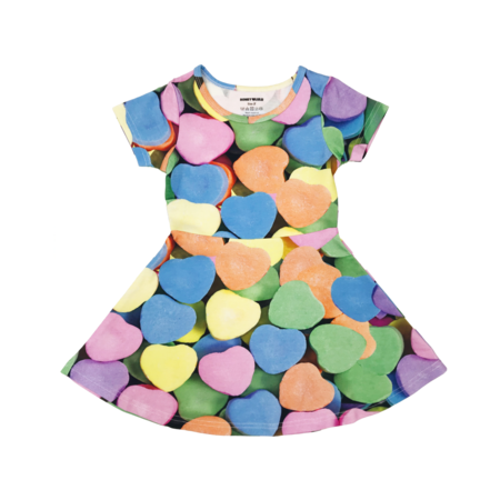 Kids Romey Loves Lulu Candy Hearts Skater Dress