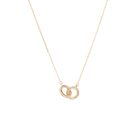 Adina Reyter Interlocking Loop Necklace - Gold