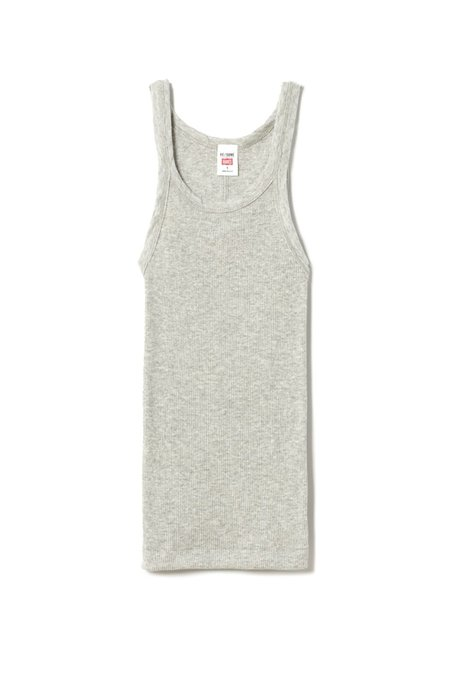 RE/DONE Ribbed Tank - Heather Grey