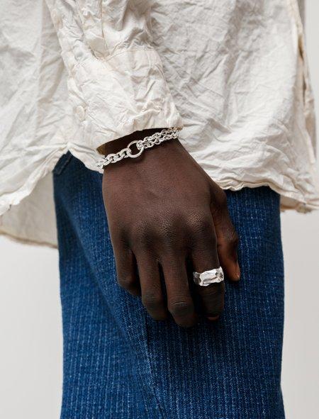 All Blues Double Polished Bracelet - Silver