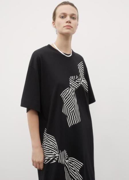 kowtow Bow Print Dress - Black