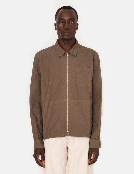 YMC Bowie Zip Shirt - Olive
