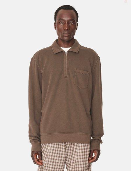 YMC Sugden Zip Sweatshirt - Dark Olive