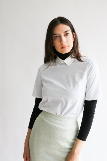 [pre-loved] Jil Sander NAVY Collared Blouse - White