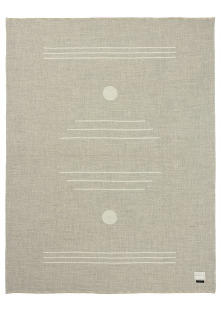 Blacksaw Harvest Moon Reversible Throw - Light Heather/Ivory