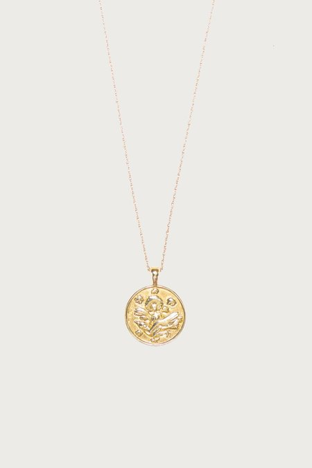 I Like It Here Club Anywhere, Anywhere Medallion Thin Necklace - Gold Plated