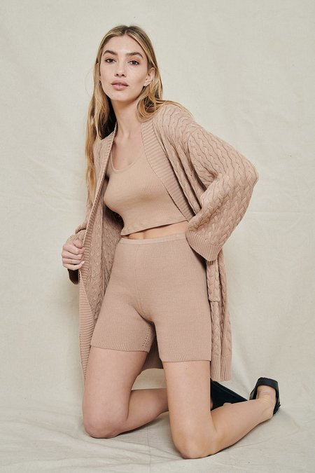 SABLYN Cotton Cashmere Shorts - BURNT SUGAR