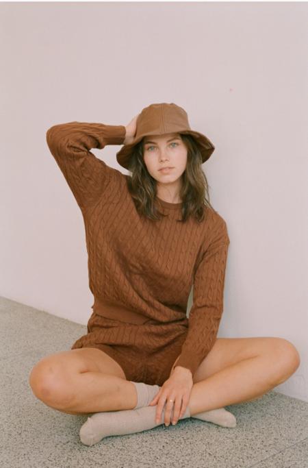 Wellington Factory Dylan Sweater - Walnut