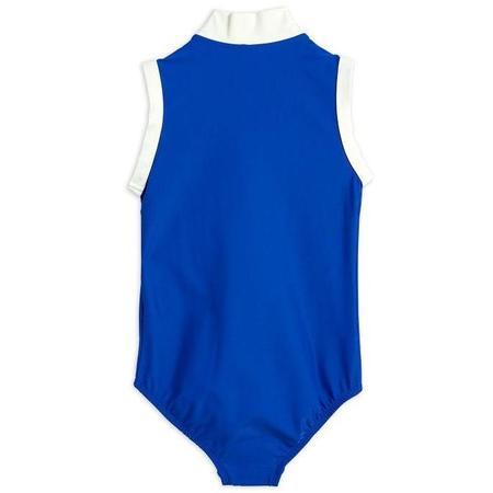 Kids Mini Rodini Rabbit Zip Swimsuit - Blue