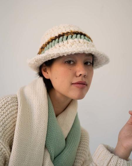 Ajaie Alaie Crazy Bucket Hat - Creme Brulee