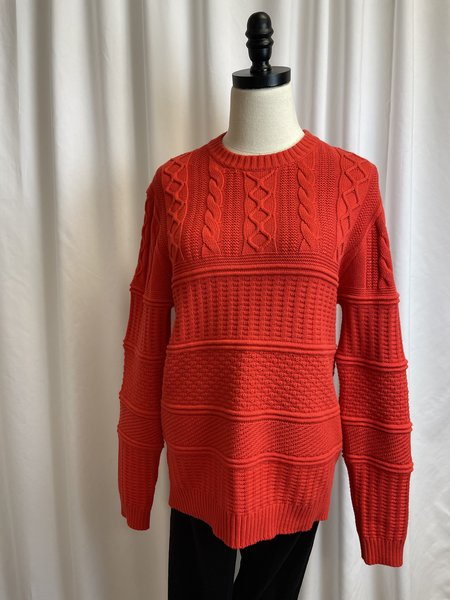 [pre-loved] Ted Baker Red Cable Knit Sweater - red