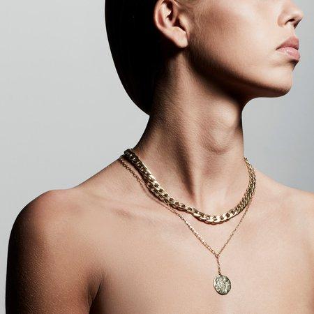 Pilgrim Compass Necklace - Gold