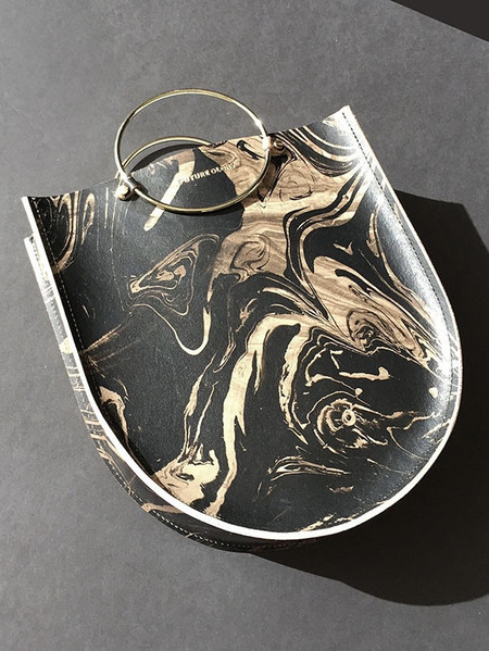 Future Glory Midi Bag - Black/Gold Marble