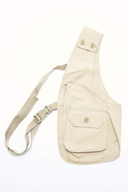 Engineered Garments PC Poplin Shoulder Vest - Khaki