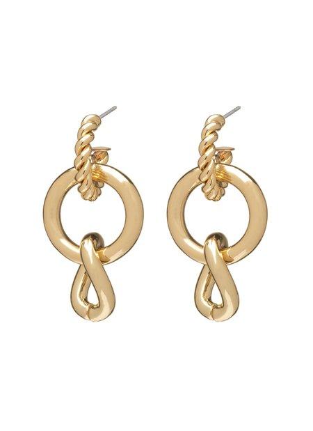 Dannijo Louisa Earrings - 10k gold plated/brass