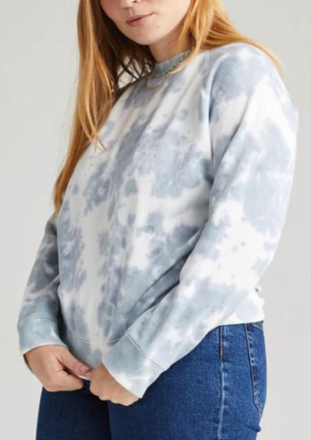 RicherPoorer Recycled Fleece Sweatshirt - Blue Mirage Tie Dye