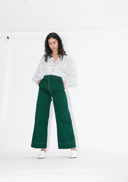 OhSevenDays High Kick Trousers - Pine Green