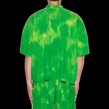 GCDS Stripes Tie Dye Logo Polo - Lime