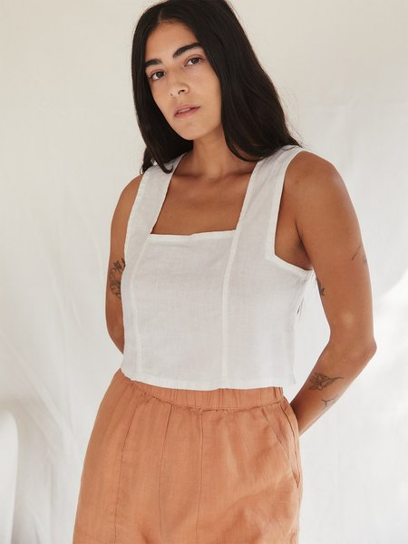 Sugar Candy Mountain The Pansy Top - Ivory