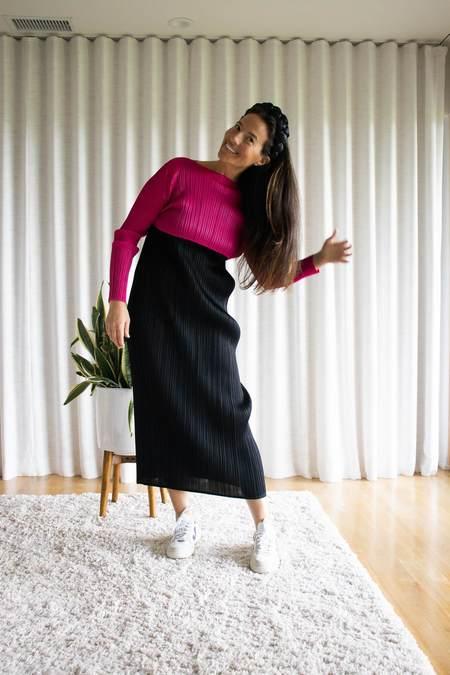 Issey Miyake Pleats Please December Colors Top - Magenta