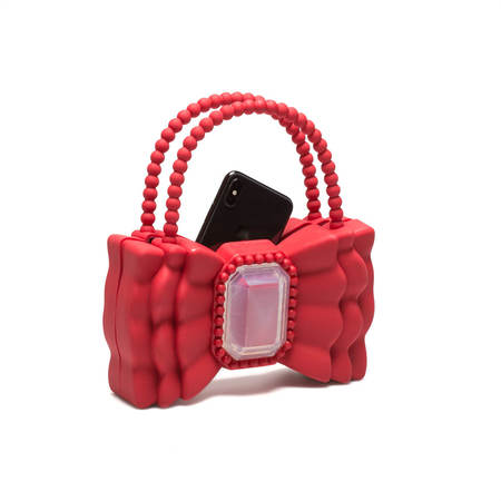 "Vrients FORBITCHES Bow bag 9"" - Red"