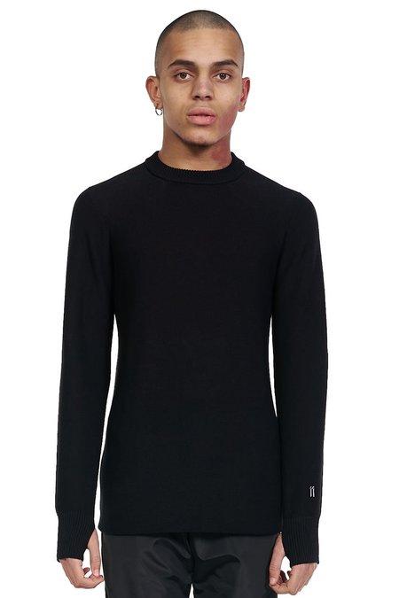 11 by Boris Bidjan Saberi Thumb Hole Sweater - Black