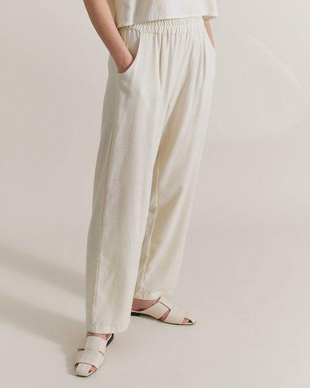 Maria Morgana Hera Raw Silk Pants - Natural