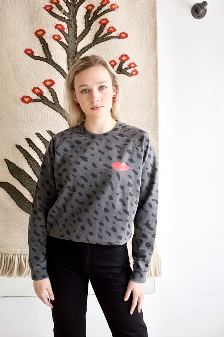 Clare V. Jaguar Sweatshirt - Faded Black