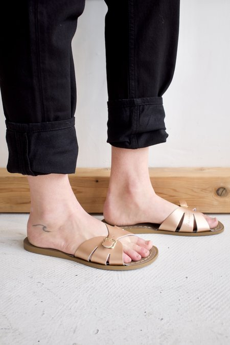 Salt Water Sandal Slide Sandal - Rose Gold
