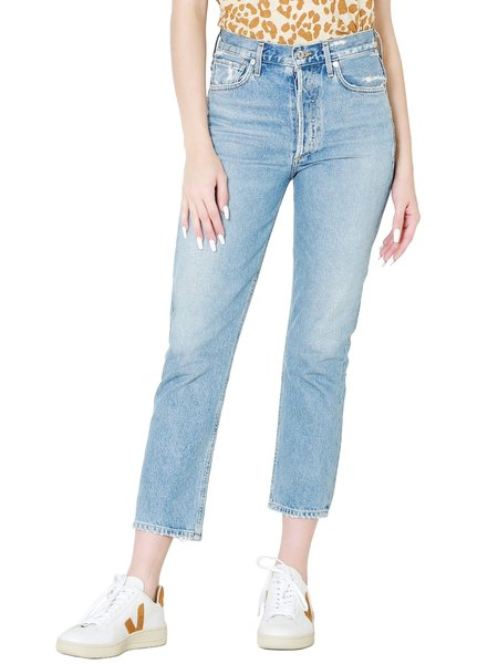 Citizens Of Humanity Charlotte Crop High Rise Straight Fit Jean - Hot Spring