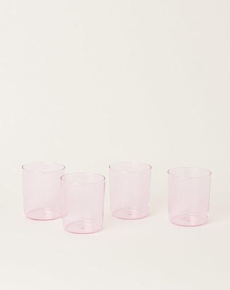 Maison Balzac Set of 4 Goblets - Pink