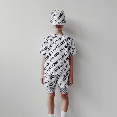 Kids caroline bosmans short sleeve t-shirt pyjamas - White/Black