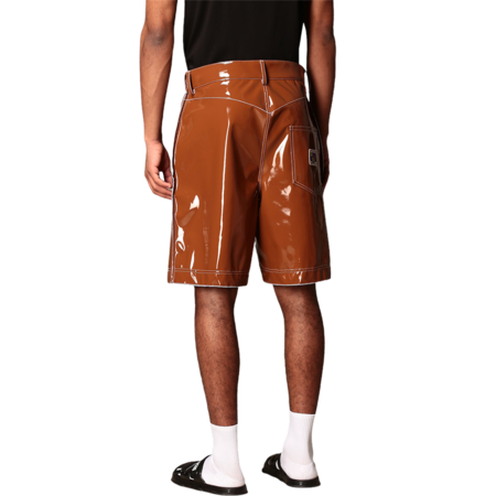 GCDS Double Stitch Shorts - Brown