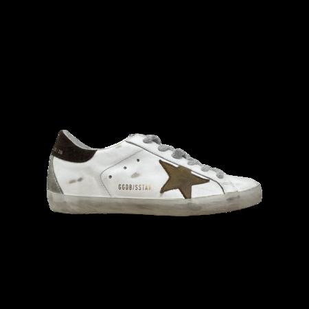 Golden Goose Superstar Sneakers - White/Brown Khaki Star