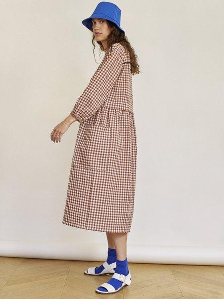 Sideline Marianne Dress - Brown Check