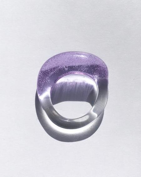JANE D'ARENSBOURG Glass Multi Organic Band - Lilac