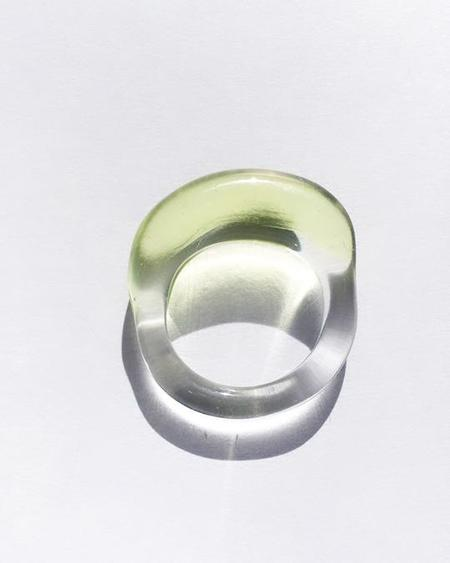 JANE D'ARENSBOURG Glass Multi Organic Band - Lime